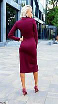 Платье футляр цвета марсала с воротником-стойкой   размеры 42-44, 44-46, фото 3
