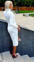 Платье футляр белого цвета  с воротником-стойкой   размеры 42-44, 44-46, фото 3