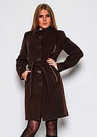 Стильное демисезонное кашемировое пальто NIO Анжела 46р