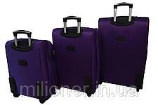 Чемодан Bonro Tourist набор 3 штуки фиолетовый, фото 2