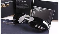 Солнцезащитные очки в стиле Porsche Design c поляризацией (p-8485) черная оправа, фото 1