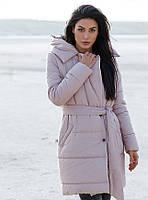 Зимнее стеганое пальто-куртка 28529 Gepur L пудрово-розовый