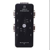KVM свич 4-портовый, переключатель USB switch KVM Переключатель switch 4 port