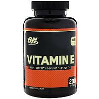 Вітамін Optimum Nutrition Vitamin E 400 IU 200 caps