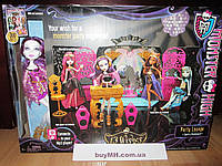 Кукла Monster High 13 Wishes Party Lounge Spectra Спектра Вондергейст 13 желаний и док-станция