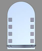Зеркало в ванную (арка,с полочкой) № У-10 (1П)  /Дюбель в Подарок