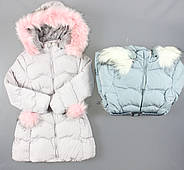 Куртка на меху для девочек F&D оптом, 8-16 лет.