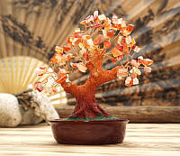 Дерево счастья Сердолик натуральный камень (высота 21 см)