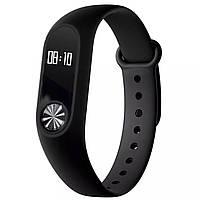 ⇒Фитнес трекер UWatch M2 Black LED ◯ спортивный браслет с пульсометром шагометр калории оповещения
