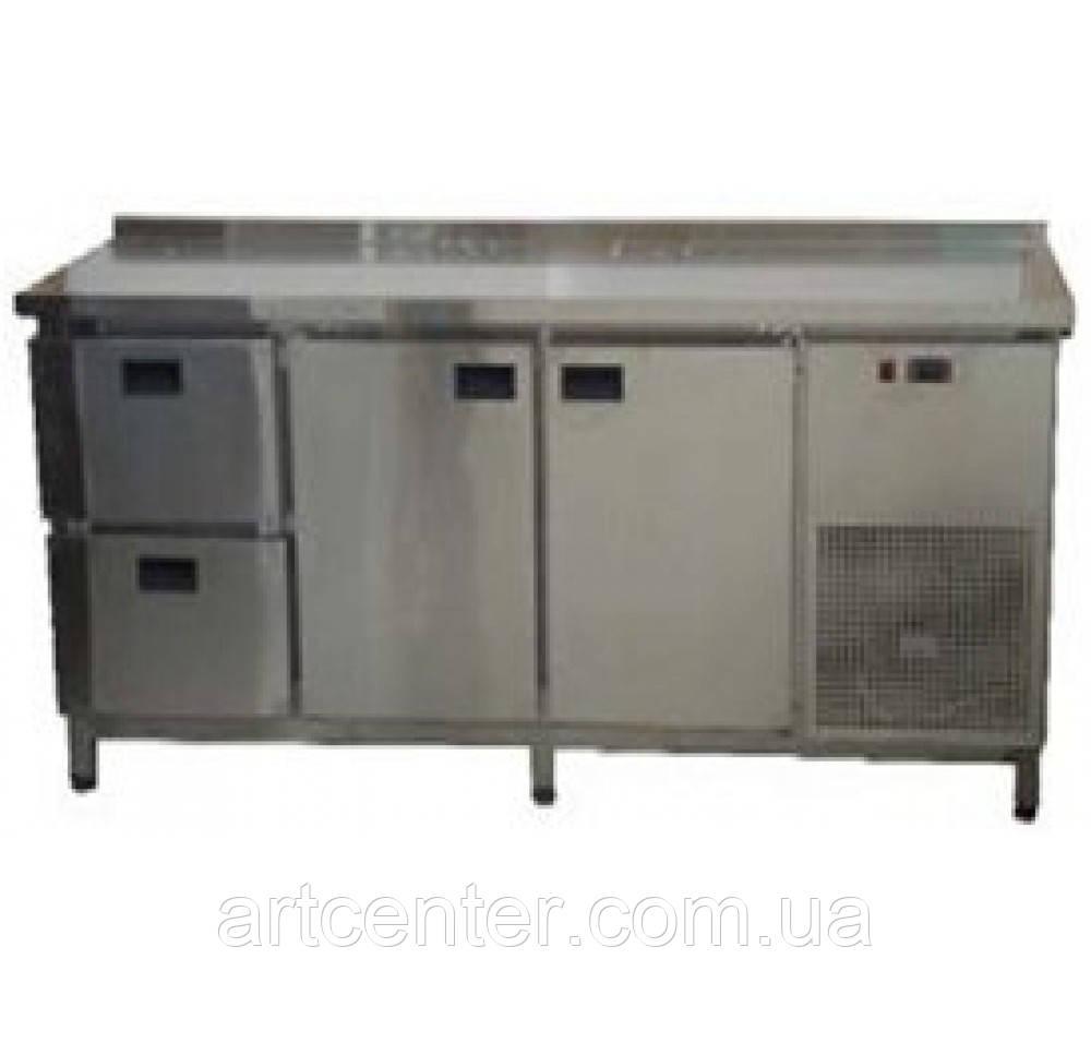 Стол холодильный 1860*600*850 мм. 2-х двери+2 ящика