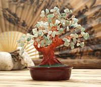 Дерево счастья Хризолит натуральный камень (высота 21 см)