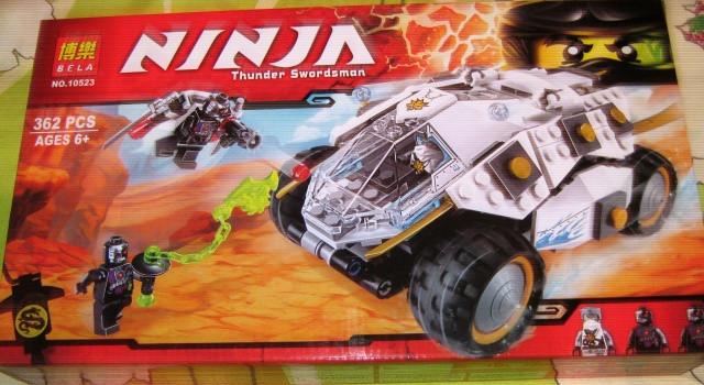 Конструктор Bela 10523 Ninja Ниндзя Ninjago Ниндзяго Внедорожник титанового ниндзя 362 дет