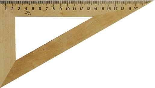 Трикутник дерев'яний 22см. 60*90*30, фото 2