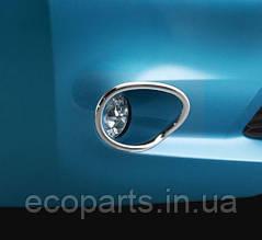 Хромированные окантовки противотуманных фар для Nissan Leaf (10-17)