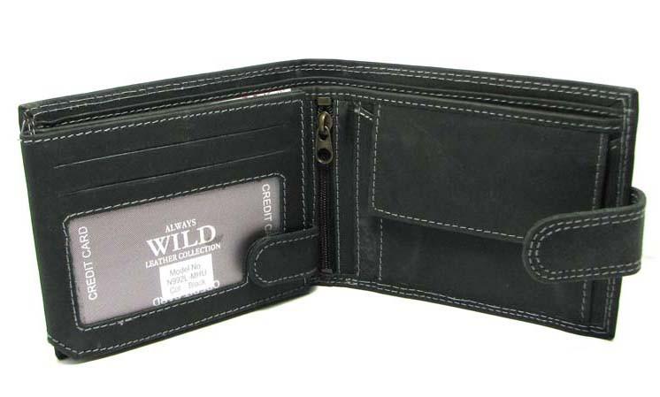 01d5b42e4e6d ... Кожаный мужской кошелек портмоне Польша натуральная кожа N992L-MH U  Black, ...