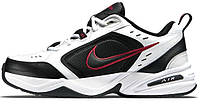 Кроссовки Nike Air Monarch IV White Black Red | Найк Монарх