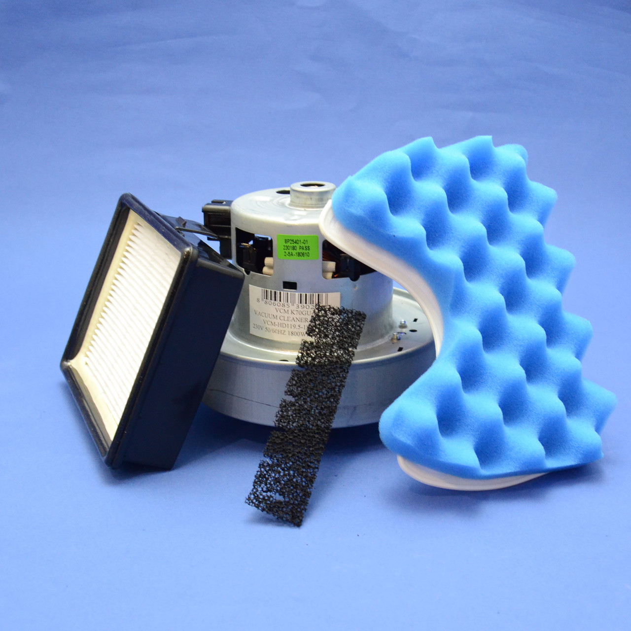Комплект двигатель VCM K-70GU 1800W + набор фильтров для пылесоса Samsung (серии 6500)