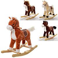 ✅ М'яка коник гойдалка музична, підлогова іграшка каталка для дітей зі звуками MP 0080