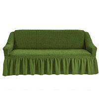 АКЦИЯ!!!Чехол на 2-х местный диван изумрудный  (Турция)