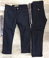 Котоновые брюки на флисе  для мальчиков оптом, S&D,6-16 лет, Арт. XEE-056