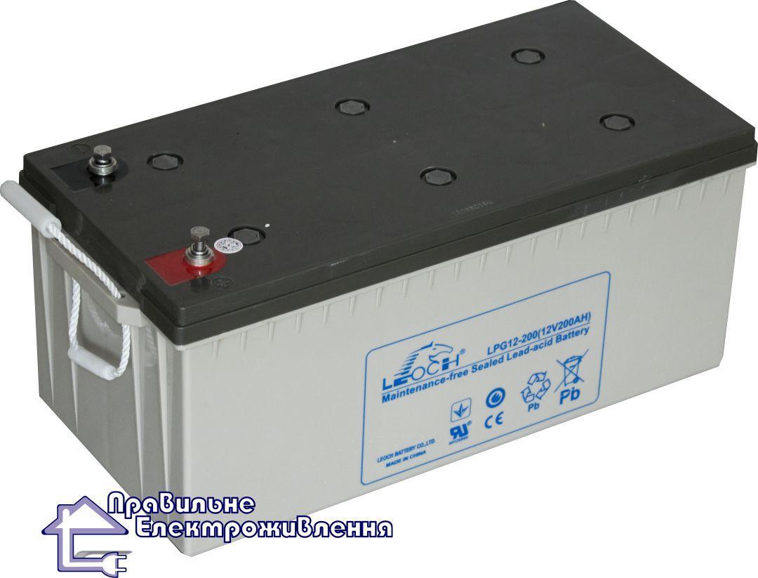 Гелева акумуляторна батарея Leoch LPG 12-200