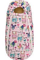 Конверт-кокон на овчине ДоРечі Baby XS рисунки на розовом фоне