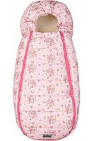 Конверт-кокон на овчине ДоРечі Baby XS розовый медвежонок и мишка