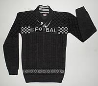Детский вязаный свитер на мальчика 13-14 лет