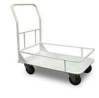 Грузовая тележка на колесах платформенная с бортами, тележка медицинская внутрикорпусная ТВК Завет