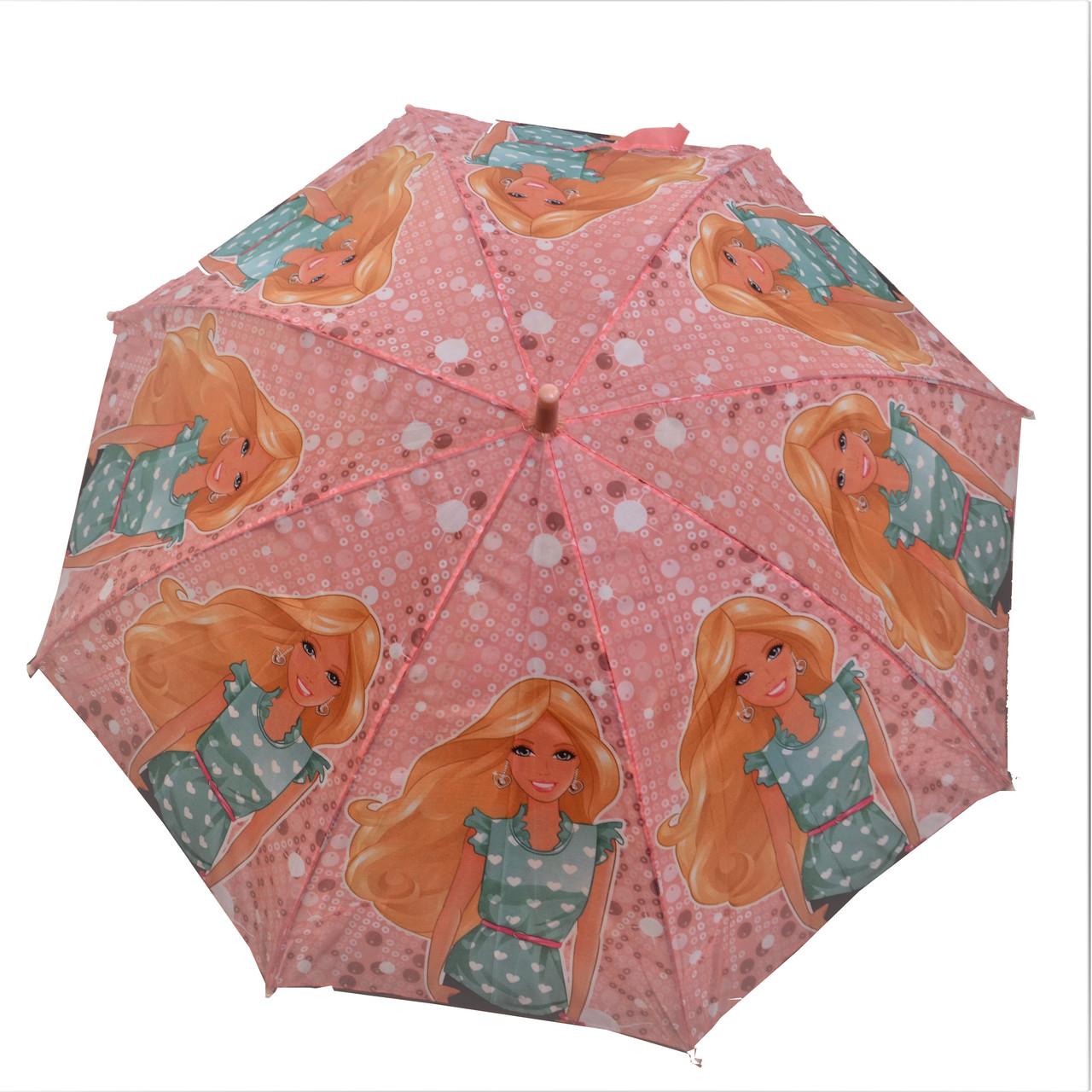 Зонтик детский розовый Барби