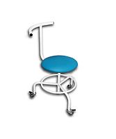 Стул винтовой передвижной со спинкой и подставкой для ног свпс медицинский для врача Завет