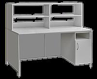 Стол лабораторный с закрывающейся тумбой и верхней надстройкой сл-001.02.04 медицинский
