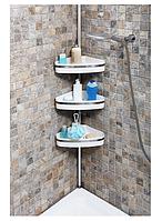 Полочка для ванной угловая Н 3901 (алюминий)