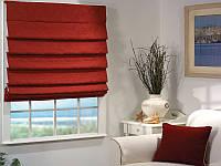 Римские шторы Лён бордо