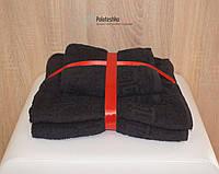 Подарочный набор черных полотенец с греческим бордюром