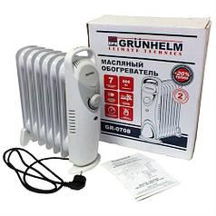 Обогреватель масляный Grunhelm GR-0708 800Вт