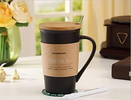 Керамическая чашка с крышкой Starbucks Memo