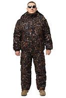Зимний костюм Камуфляж Лес мембранная ворса alova для охоты и рыбалки, куртка пилот