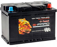 Аккумулятор автомобильный 6СТ-78Ач. 760A. Fast G-PARD