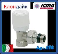 Icma Угловой терморегулирующий вентиль с ручным и термостатическим управлением 3/4