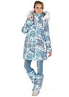 Куртка для беременных зимняя 2в1 Тори пэйсли на белом