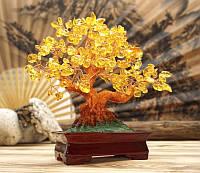 Дерево счастья Цитрин натуральный камень (высота 22,5 см)