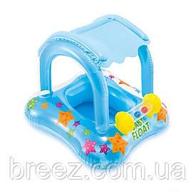 Детский надувной плотик-райдер для плавания Intex 81 х 66 см