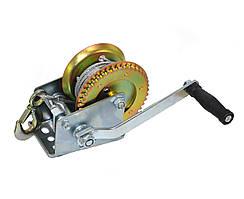 Лебедка ручная тросовая Polax стальной трос 10м 1200 lbs (500 кг) (01-002)