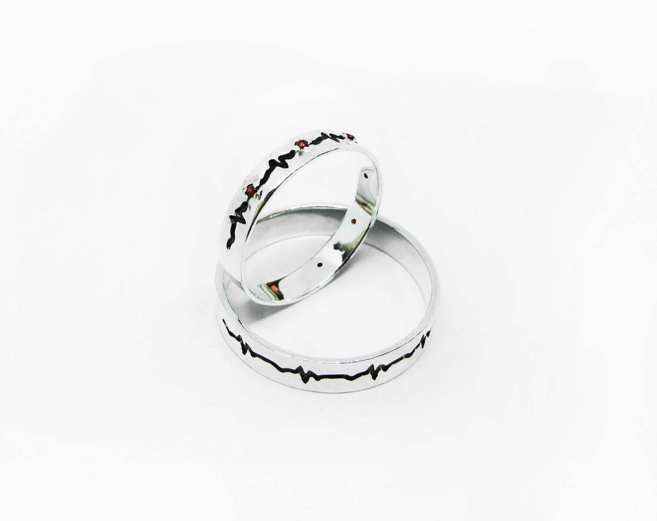 Кольца парные,обручальные Два сердца 20035