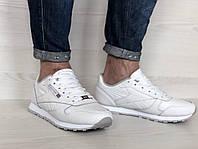 Кроссовки мужские в стиле Reebok Classic код товара 4S-1099. Белые