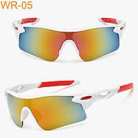 Солнцезащитные спортивные очки Robesbon (велоочки) белые
