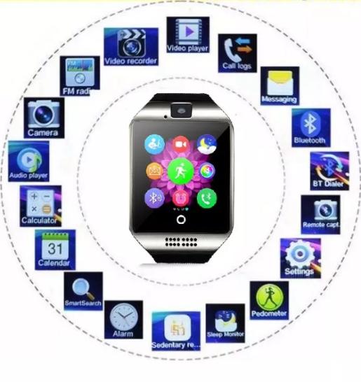Смартчасы SmartWatch Q18 умные Часы годинник смартвоч