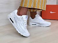 Кроссовки женские в стиле Nike Air Max 90 код товара 4S-1104. Белые 40
