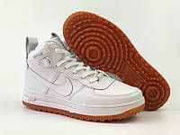 Кроссовки мужские в стиле Nike Lunar Force 1 код товара 4S-1119. Белые